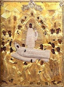 Чудотворный образ Успения Пресвятой Богородицы (фрагмент)